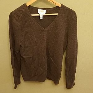 Talbots Pima Cotton Cable Knit Sweater